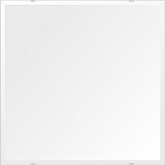 飛散防止加工 鏡 ミラー 高透過 超透明鏡 安心 安全 クリスタルミラー シリーズ:b-scm-h-4m18-650mmx650mm-HS(四角形)(スーパークリアーミラー デラックスカットタイプ)アイビーオリジナル洗面 浴室 風呂 トイレ 水廻り 壁掛け 姿見 鏡 ミラー