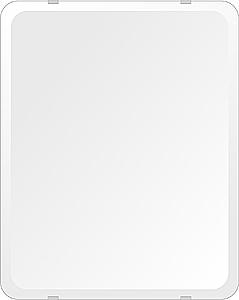 鏡 壁掛け 鏡 ミラー 日本製 高透過 超透明鏡 角丸四角形 鏡 400mmx500mm スーパークリアーミラー 30Rデラックスカット 国産 フレームレスミラー 壁掛け鏡 壁掛けミラー ウォールミラー 姿見 姿見鏡 インテリアミラー (リビング、玄関、廊下、寝室など一般空間用)