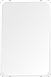 飛散防止加工 鏡 ミラー 高透過 超透明鏡 安心 安全 クリスタルミラー シリーズ:b-scm-h-4m18-30r-406mmx610mm-HS(角丸四角形)(スーパークリアーミラー 30R デラックスカットタイプ)アイビーオリジナル 洗面 浴室 風呂 トイレ 水廻り 鏡 ミラー