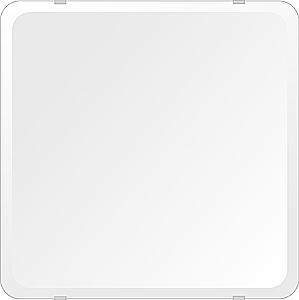 スーパークリアー ミラー 450x450mm 角丸四角形 デラックスカット 鏡 壁掛け ミラー 壁掛け 日本製 5mm厚 玄関 リビング 寝室 トイレ 取付金具と説明書 高透過 高精彩 壁掛け壁 壁に直付け ウオールミラー 姿見 全身 おしゃれ 軽量 角型 四角 四角形