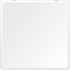 スーパークリアー ミラー 550x550mm 角丸四角形 デラックスカット 鏡 壁掛け ミラー 壁掛け 日本製 5mm厚 玄関 リビング 寝室 トイレ 取付金具と説明書 高透過 高精彩 壁掛け壁 壁に直付け ウオールミラー 姿見 全身 おしゃれ 軽量 角型 四角 四角形