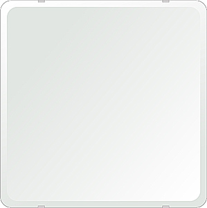 飛散防止加工 鏡 ミラー 安心 安全 クリスタルミラー シリーズ:b-cm-h-4m18-30r-550mmx550mm-HS(角丸四角形)(クリアーミラー 30R デラックスカットタイプ)日本製 アイビーオリジナル洗面 浴室 風呂 トイレ 水廻り 壁掛け 姿見 鏡 専用取付金具付き