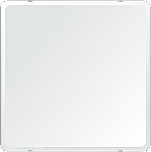 鏡 壁掛け 鏡 ミラー 日本製 角丸四角形 鏡 600mmx600mm クリアーミラー 30Rデラックスカット 国産 フレームレスミラー 壁掛け鏡 壁掛けミラー ウォールミラー 姿見 姿見鏡 インテリアミラー (リビング、玄関、廊下、寝室など一般空間用)
