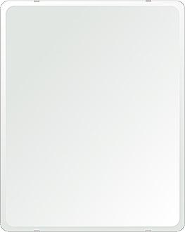 クリスタル ミラー 洗面鏡 浴室鏡 608x760mm 角丸四角形 デラックスカット 洗面 鏡 浴室 壁掛け ミラー 日本製 5mm厚 取付金具と説明書 壁掛け鏡 ウオールミラー 防湿鏡 姿見 全身 おしゃれ 軽量 角型 四角 四角形 洗面台 防湿 お風呂