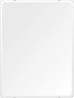 飛散防止加工 鏡 ミラー 高透過 超透明鏡 安心 安全 クリスタルミラー シリーズ:b-scm-h-4m18-30r-608mmx811mm-HS(角丸四角形)(スーパークリアーミラー 30R デラックスカットタイプ)アイビーオリジナル 洗面 浴室 風呂 トイレ 水廻り 鏡 ミラー