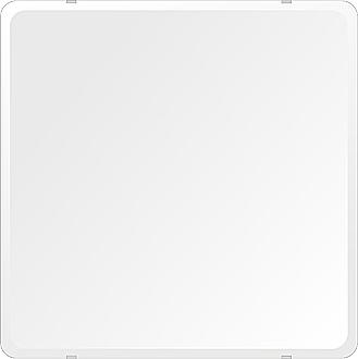 スーパークリアー ミラー 650x650mm 角丸四角形 デラックスカット 鏡 壁掛け ミラー 壁掛け 日本製 5mm厚 玄関 リビング 寝室 トイレ 取付金具と説明書 高透過 高精彩 壁掛け壁 壁に直付け ウオールミラー 姿見 全身 おしゃれ 軽量 角型 四角 四角形