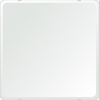 クリスタル ミラー 洗面鏡 浴室鏡 650x650mm 角丸四角形 デラックスカット 洗面 鏡 浴室 壁掛け ミラー 日本製 5mm厚 取付金具と説明書 壁掛け鏡 ウオールミラー 防湿鏡 姿見 全身 おしゃれ 軽量 角型 四角 四角形 洗面台 防湿 お風呂