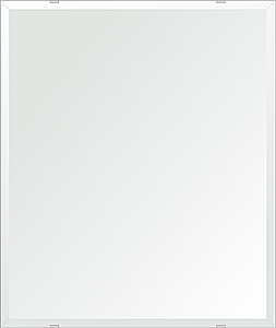 洗面鏡 浴室鏡 トイレ鏡 化粧鏡 日本製 四角形 549mmx649mm クリアーミラー デラックスカット 国産 フレームレスミラー 風呂 鏡 壁掛け鏡 壁掛けミラー ウオールミラー 姿見 姿見鏡 ミラー