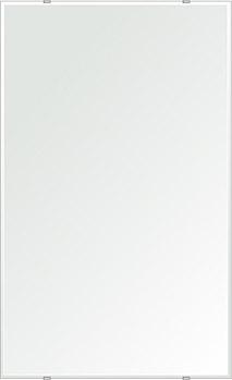 鏡 壁掛け 鏡 ミラー 日本製 四角形 鏡 610mmx1000mm クリアーミラー クリスタルカット 国産 フレームレスミラー 壁掛け鏡 壁掛けミラー ウォールミラー 姿見 姿見鏡 インテリアミラー (リビング、玄関、廊下、寝室など一般空間用)