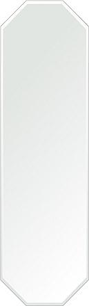 洗面鏡 浴室鏡 トイレ鏡 化粧鏡 日本製 八角形 鏡 350mm×1200mm クリアーミラー クリスタルカット 国産 フレームレスミラー 風呂 鏡 壁掛け鏡 壁掛けミラー ウオールミラー 姿見 姿見鏡 ミラー