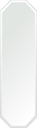 洗面鏡 浴室鏡 トイレ鏡 化粧鏡 日本製 八角形 鏡 350mm×1200mm クリアーミラー デラックスカット 国産 フレームレスミラー 風呂 鏡 壁掛け鏡 壁掛けミラー ウオールミラー 姿見 姿見鏡 ミラー