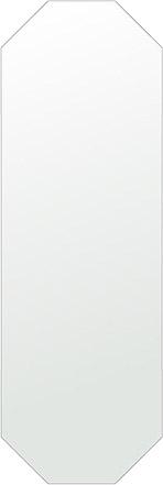 洗面鏡 浴室鏡 トイレ鏡 化粧鏡 日本製 八角形 鏡 400mm×1200mm クリアーミラー シンプルタイプ 国産 フレームレスミラー 風呂 鏡 壁掛け鏡 壁掛けミラー ウオールミラー 姿見 姿見鏡 ミラー
