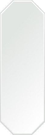 風水鏡 400x1200mm 八角形 クリスタルカット 日本製 風水 鏡 八角形 鏡 壁掛け ミラー 壁掛け 5mm厚 取付金具と説明書 壁掛け鏡 壁に直付け ウオールミラー 姿見 鏡 全身 おしゃれ 軽量 (8角 八角 オクタゴン 八角鏡)