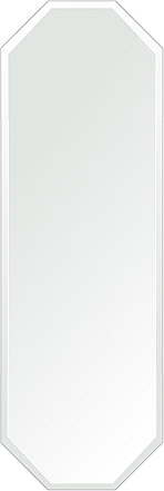 飛散防止加工 鏡 ミラー 安心 安全 クリスタルミラーシリーズ(一般空間用):c-octagon400x1200-18mm-HS(オクタゴン)(クリアーミラー デラックスカットタイプ)日本製 アイビーオリジナル 壁掛け鏡 ウォールミラー 姿見 鏡 専用取付金具付き