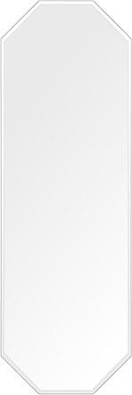 洗面鏡 浴室鏡 トイレ鏡 化粧鏡 日本製 高透過 超透明鏡 八角形 鏡 400mm×1200mm クリアーミラー クリスタルカット 国産 フレームレスミラー 風呂 鏡 壁掛け鏡 壁掛けミラー ウオールミラー 姿見 姿見鏡 ミラー