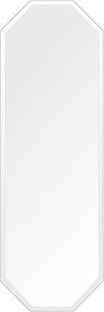 飛散防止加工 鏡 ミラー 高透過 超透明鏡 安心 安全 クリスタルミラー シリーズ:scdx-octagon400x1200-18mm-HS(オクタゴン)(スーパークリアーミラー デラックスカットタイプ)アイビーオリジナル 洗面 浴室 風呂 トイレ 鏡 ミラー