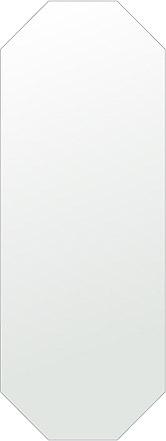 飛散防止加工 鏡 ミラー 安心 安全 クリスタルミラー シリーズ:cdx-octagon450x1200-km-HS(オクタゴン)(クリアーミラー シンプルタイプ)日本製 アイビーオリジナル洗面 浴室 風呂 トイレ 水廻り 壁掛け 姿見 鏡