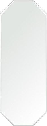 洗面鏡 浴室鏡 トイレ鏡 化粧鏡 日本製 八角形 鏡 450mm×1200mm クリアーミラー クリスタルカット 国産 フレームレスミラー 風呂 鏡 壁掛け鏡 壁掛けミラー ウオールミラー 姿見 姿見鏡 ミラー