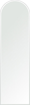 クリスタル ミラー 洗面鏡 浴室鏡 350x1200mm アーチ形状 クリスタルカット 洗面 鏡 浴室 壁掛け ミラー 日本製 5mm厚 取付金具と説明書 壁掛け鏡 ウオールミラー 防湿鏡 姿見 全身 おしゃれ 軽量 天丸形 洗面台 防湿 お風呂