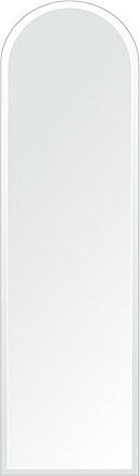 クリスタル ミラー 洗面鏡 浴室鏡 350x1200mm アーチ形状 デラックスカット 洗面 鏡 浴室 壁掛け ミラー 日本製 5mm厚 取付金具と説明書 壁掛け鏡 ウオールミラー 防湿鏡 姿見 全身 おしゃれ 軽量 天丸形 洗面台 防湿 お風呂