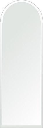 洗面鏡 浴室鏡 トイレ鏡 化粧鏡 日本製 アーチ(天丸形) 400mm×1200mm クリアーミラー デラックスカット 国産 フレームレスミラー 風呂 鏡 壁掛け鏡 壁掛けミラー ウオールミラー 姿見 姿見鏡 ミラー