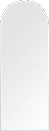 鏡 壁掛け 鏡 ミラー 日本製 アーチ(天丸形) 450mm×1200mm クリアーミラー クリスタルカット 国産 フレームレスミラー 壁掛け鏡 壁掛けミラー ウォールミラー 姿見 姿見鏡 インテリアミラー (リビング、玄関、廊下、寝室など一般空間用)