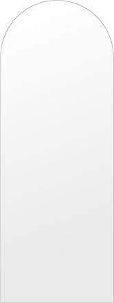 洗面鏡 浴室鏡 トイレ鏡 化粧鏡 日本製 高透過 超透明鏡 アーチ(天丸形) 450mm×1200mm スーパークリアーミラー シンプルタイプ 国産 フレームレスミラー 風呂 鏡 壁掛け鏡 壁掛けミラー ウオールミラー 姿見 姿見鏡 ミラー
