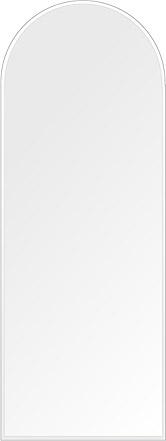 洗面鏡 浴室鏡 トイレ鏡 化粧鏡 日本製 高透過 超透明鏡 アーチ(天丸形) 450mm×1200mm クリアーミラー クリスタルカット 国産 フレームレスミラー 風呂 鏡 壁掛け鏡 壁掛けミラー ウオールミラー 姿見 姿見鏡 ミラー