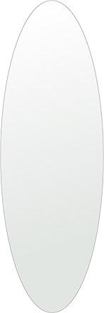 トイレ 鏡 400x1200mm 楕円形 シンプルカット トイレ鏡 鏡 トイレ 壁掛け ミラー 壁掛け 日本製 5mm厚 取付金具と説明書 壁掛け鏡 壁に直付け ウオールミラー 姿見 鏡 全身 おしゃれ 軽量 楕円 丸 長丸 丸い オーバル