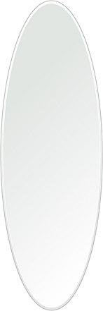 洗面鏡 浴室鏡 トイレ鏡 化粧鏡 日本製 楕円形 鏡 400mm×1200mm クリアーミラー クリスタルカット 国産 フレームレスミラー 風呂 鏡 壁掛け鏡 壁掛けミラー ウオールミラー 姿見 姿見鏡 ミラー