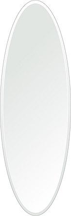 クリスタル ミラー 400x1200mm 楕円形 デラックスカット 鏡 壁掛け ミラー 壁掛け 日本製 5mm厚 玄関 リビング 寝室 トイレ 取付金具と説明書 壁掛け鏡 壁に直付け ウオールミラー 姿見 全身 おしゃれ 軽量 楕円 丸 長丸 丸い オーバル