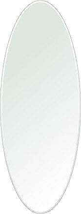 洗面鏡 浴室鏡 トイレ鏡 化粧鏡 日本製 楕円形 鏡 450mm×1200mm クリアーミラー クリスタルカット 国産 フレームレスミラー 風呂 鏡 壁掛け鏡 壁掛けミラー ウオールミラー 姿見 姿見鏡 ミラー