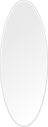 洗面鏡 浴室鏡 トイレ鏡 化粧鏡 日本製 高透過 超透明鏡 楕円形 鏡 450mm×1200mm クリアーミラー クリスタルカット 国産 フレームレスミラー 風呂 鏡 壁掛け鏡 壁掛けミラー ウオールミラー 姿見 姿見鏡 ミラー