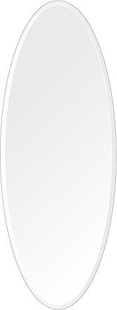 飛散防止加工 鏡 ミラー 高透過 超透明鏡 安心 安全 クリスタルミラー シリーズ:scdx-oval450x1200-18mm-HS(オーバル)(スーパークリアーミラー デラックスカットタイプ)アイビーオリジナル 洗面 浴室 風呂 トイレ 鏡 ミラー