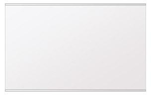 鏡 ミラー 高透過 超透明鏡 壁掛け鏡 ウォールミラー ステンフレーム シリーズ(一般空間用):i-scm-h-s-2f-w1000mmxh610mm(四角形)(スーパークリアーミラー 上下2方フレームタイプ)( 壁掛け 姿見 ステンレス フレームミラー )
