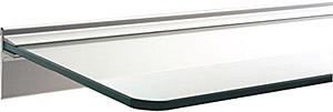 あらゆるサイズが揃うガラス・シェルフ、ガラス(硝子)の棚、棚、シェルフ、サニタリー・シェルフ、トイレ・洗面の棚、化粧棚(奥行=250mmタイプ、サイズ=w550xd250):gs550xd250