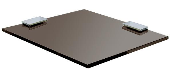 ガラスシェルフ シェルフ 棚 洗面の棚 サニタリーシェルフ 洗面 洗面所 ラック 棚板 壁掛け 収納 壁面 デザイン トイレ 洗面の棚 化粧棚 サニタリーシェルフ (ブロンズガラス):gs200xd200bz