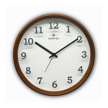 オフィスに電波で正確な時間を表示 電波時計 日本製 壁掛け 掛け時計 木製 おしゃれ ギフト 北欧 クラシック(電波 時計 電波式)(シンプル モダン)(連続秒針 静音 スイープ スイープ秒針 静か 音がしない)(会社 仕事 事務所 )
