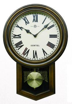 電波で正確な時間を表示 電波時計 日本製 壁掛け 掛け時計 木製 おしゃれ ギフト 北欧 (電波 時計 電波式)(アンティーク クラシック)(振り子時計 振り子 時計 仕掛け時計)
