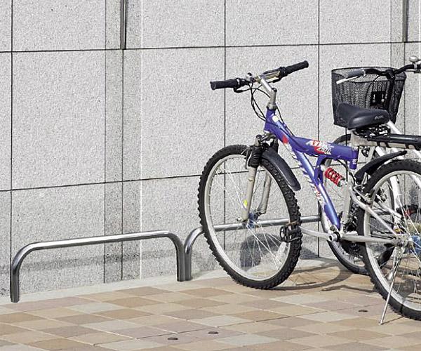 自転車スタンド サイクルスタンド 自転車ラック 自転車デイスプレイラック サイクルラック 自転車 スタンド 駐輪場 スタンド スタンドラック (地上高300mm、幅1000mmのバータイプ):cs0310-h300xw1000