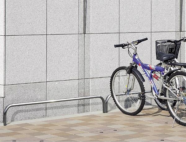 自転車スタンド サイクルスタンド 自転車ラック 自転車デイスプレイラック サイクルラック 自転車 スタンド 駐輪場 スタンド スタンドラック (地上高300mm、幅2000mmのバータイプ):cs0320-h300xw2000