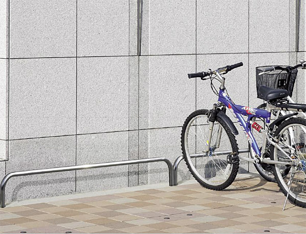 自転車スタンド サイクルスタンド 自転車ラック 自転車デイスプレイラック サイクルラック 自転車 スタンド 駐輪場 スタンド スタンドラック (地上高300mm、幅2400mmのバータイプ):cs0324-h300xw2400