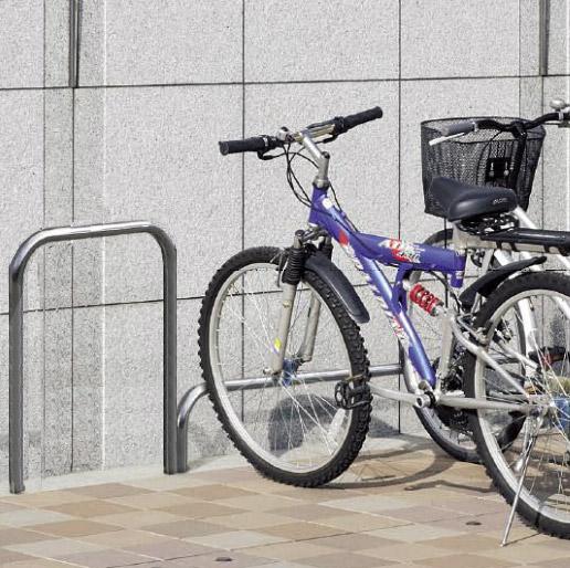 自転車スタンド サイクルスタンド 自転車ラック 自転車デイスプレイラック サイクルラック 自転車 スタンド 駐輪場 スタンド スタンドラック (地上高800mm、幅600mmのバータイプ):cs0806-h800xw600