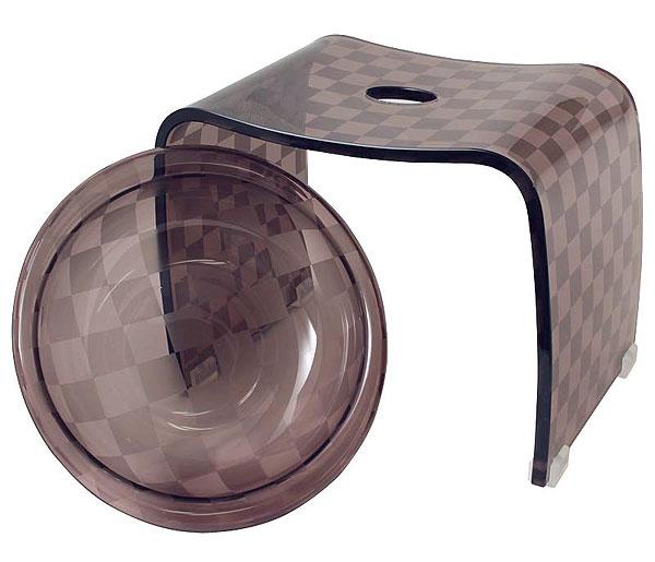 バスチェア&ウオッシュボールセット バスチェアー 洗面器 セット バス チェアー シャワーチェア ウォッシュボール 風呂椅子 風呂イス 風呂桶 湯おけ 風呂いす バススツール お風呂椅子 アクリル バスチェア:6d1925d5