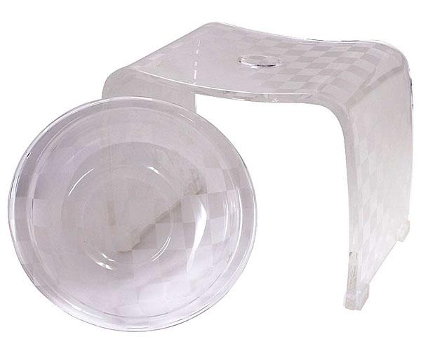 バスチェア&ウオッシュボールセット バスチェアー 洗面器 セット バス チェアー シャワーチェア ウォッシュボール 風呂椅子 風呂イス 風呂桶 湯おけ 風呂いす バススツール お風呂椅子 アクリル バスチェア:6d1926d2
