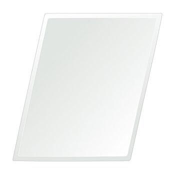 洗面鏡 浴室鏡 トイレ鏡 化粧鏡 日本製 ロンボイド 400mm×500mm クリアーミラー デラックスカット 国産 フレームレスミラー 風呂 鏡 壁掛け鏡 壁掛けミラー ウオールミラー 姿見 姿見鏡 ミラー