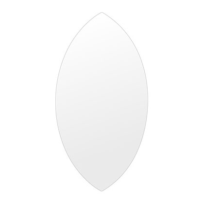 飛散防止加工 鏡 ミラー 高透過 超透明鏡 安心 安全 クリスタルミラー シリーズ:scdx-marquise310x600-km-HS(マーキーズ)(スーパークリアーミラー シンプルタイプ)アイビーオリジナル 洗面 浴室 風呂 トイレ 鏡 ミラー