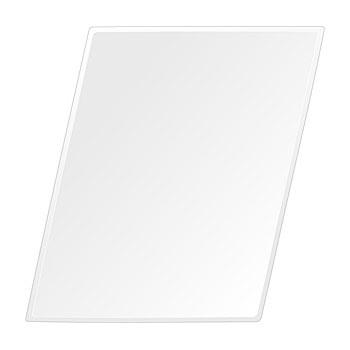 飛散防止加工 鏡 ミラー 高透過 超透明鏡 安心 安全 クリスタルミラー シリーズ:scdx-rhomboid400x500-9mm-HS(ロンボイド)(スーパークリアーミラー クリスタルカットタイプ)アイビーオリジナル 洗面 浴室 風呂 トイレ 鏡 ミラー