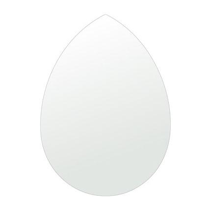 洗面鏡 浴室鏡 トイレ鏡 化粧鏡 日本製 ペア(洋梨形) 430mm×600mm クリアーミラー シンプルタイプ 国産 フレームレスミラー 風呂 鏡 壁掛け鏡 壁掛けミラー ウオールミラー 姿見 姿見鏡 ミラー