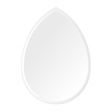 洗面鏡 浴室鏡 トイレ鏡 化粧鏡 日本製 高透過 超透明鏡 ペア(洋梨形) 430mm×600mm スーパークリアーミラー デラックスカット 国産 フレームレスミラー 風呂 鏡 壁掛け鏡 壁掛けミラー ウオールミラー 姿見 姿見鏡 ミラー